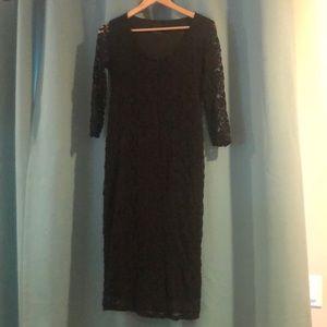 ASOS lace maternity dress
